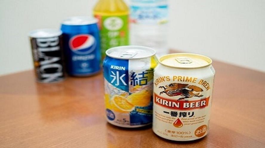 【連泊のお客様へ】エコ特典(ビール、チューハイ、ソフトドリンクなど)