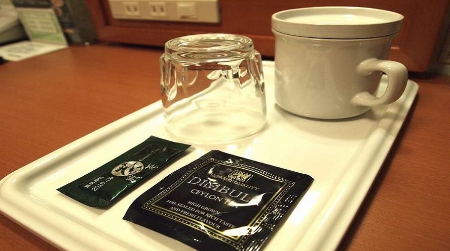 お茶(粉末)・紅茶・マグカップ・グラス