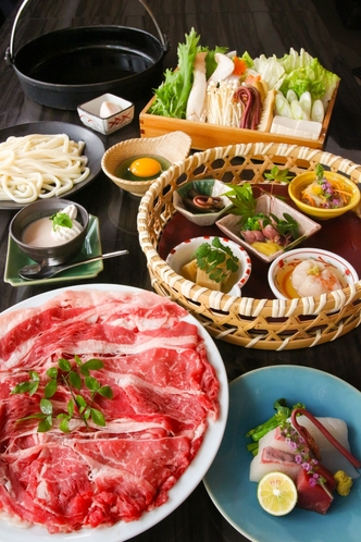 兵庫県産牛のすき焼きコース