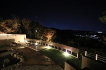 露天風呂からの夜景