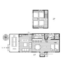 ザ・ビーチガーデンハウス平面図 92.1㎡ 大きな1LDK 定員10名