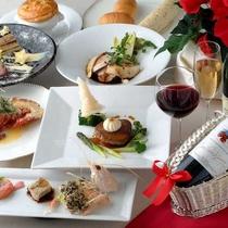 スカイレストラン bon・repas(ボン・ルパ)でのフレンチコース