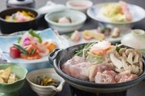 【桜島鶏】陶板味噌焼きをメインにした会席料理