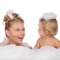 ホットジャグジーで仲良く ~バブル入浴剤付。外で身体が洗えるので楽々です