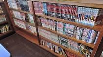 *食堂にはコミック本が充実。暇つぶしにもってこい