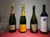 【プレミアムドリンク】記念日やお祝いにプレミアムなワイン・シャンパンをご用意しております