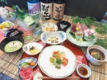 【夕食】※一例 季節の食材を使った会席料理
