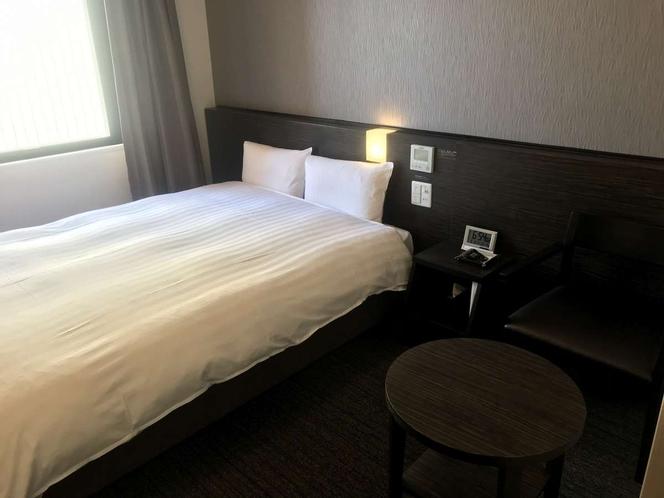 【コンフォートダブルルーム】1ベッド(140cm×195cm)【広さ16.8~17.9㎡】