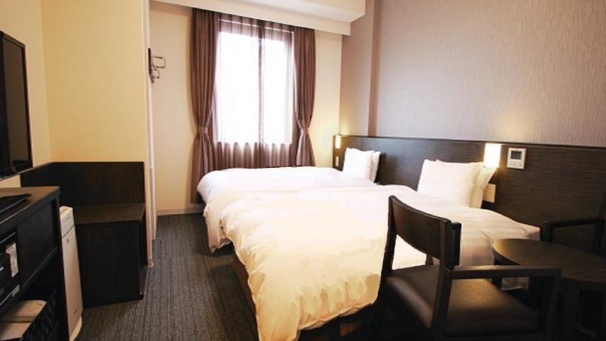 【ツインルーム 】2ベッド(120cm×195cm)【広さ21.6㎡】