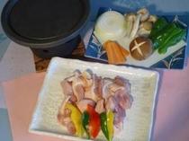 別注料理「信州ハーブ鳥石焼ステーキ」