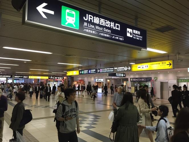 ①まずJR札幌駅西改札口を出ます♪