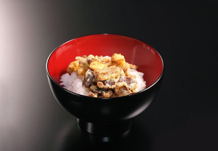 秋のお食事 ~かき揚げの天丼~