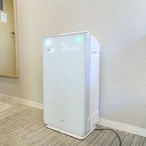 全室に加湿機能付き空気清浄機を完備