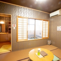 【蒼/あおい】和室6畳+専用内風呂付き(一例)