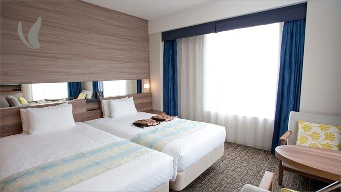 【ハリウッドツイン】シモンズ社製ベッドでゆったり広々〜沖縄郷土料理が自慢の朝食バイキング付