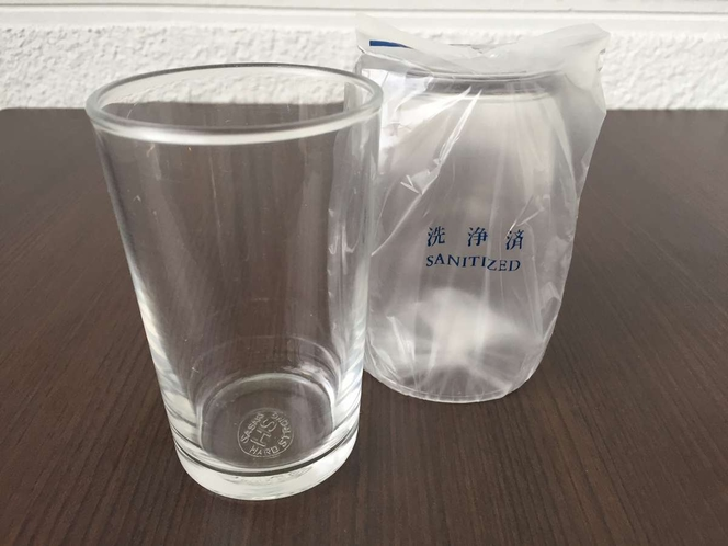 【強化グラス】全室冷蔵庫内にご用意しております