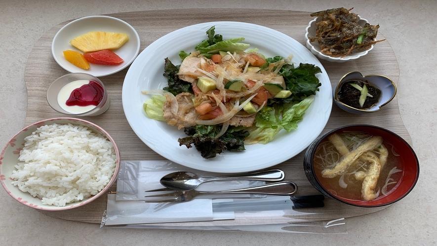 プリフィックススタイル朝食 盛り付け例(イメージ)