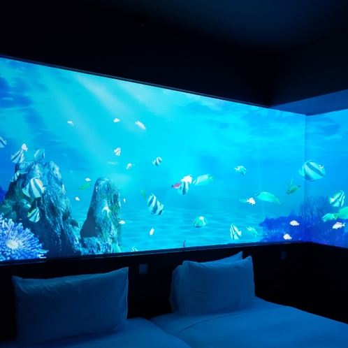 客室 美ら海のコンセプトルームとなります。