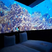 客室|美ら海のコンセプトルームとなります。(ツイン)