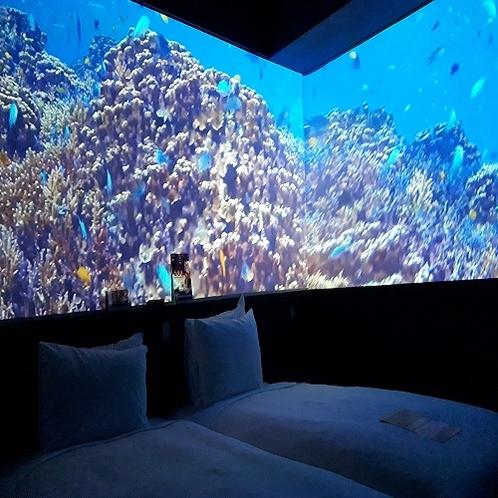客室 美ら海のコンセプトルームとなります。(ツイン)