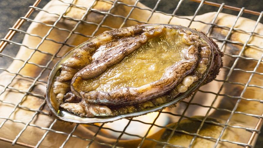 *料理のイメージ画像(あわび焼き)/日本海産の天然あわびをお楽しみ下さい。