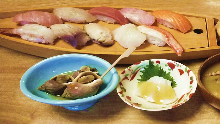 *料理一例(寿司コース)