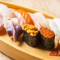 *料理一例(本日のお寿司8貫)/小樽のお寿司を堪能するならコチラ!