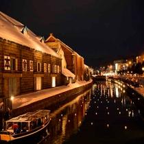 **小樽観光/「雪あかりの路」毎年2月、ローソクの灯りで埋め尽くされる小樽の街