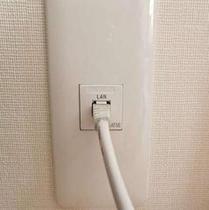 LANケーブル(LAN接続用のジャックがデスクにございます)