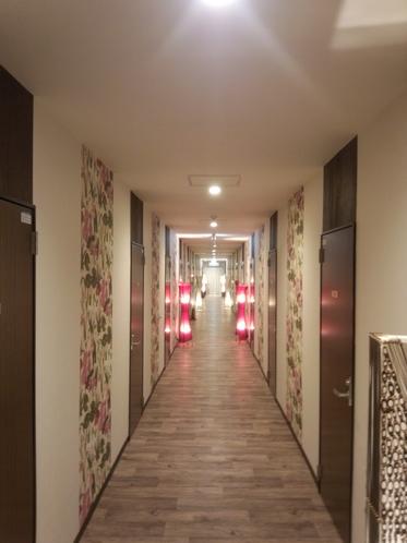 客室側廊下