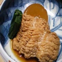 「夕食一例」穴子と大根の煮物