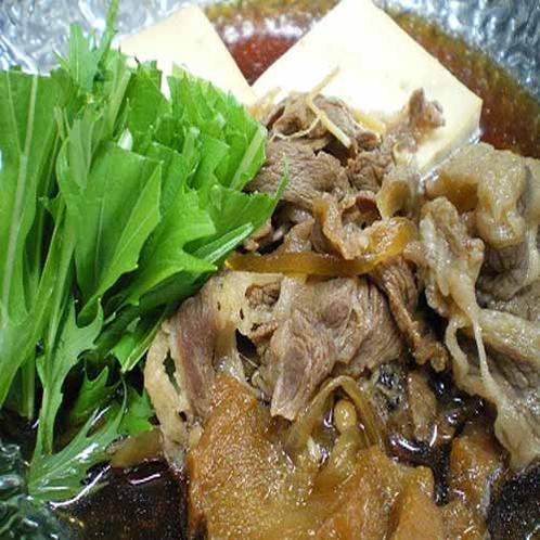 「夕食一例」すき焼き鍋