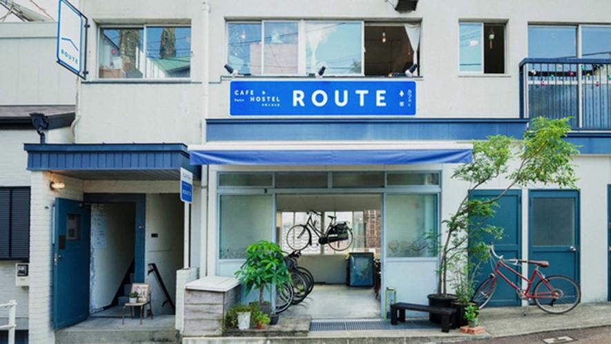 ・【外観】長崎駅から坂を登ってとことこ歩いてすぐ。青い看板が目印です