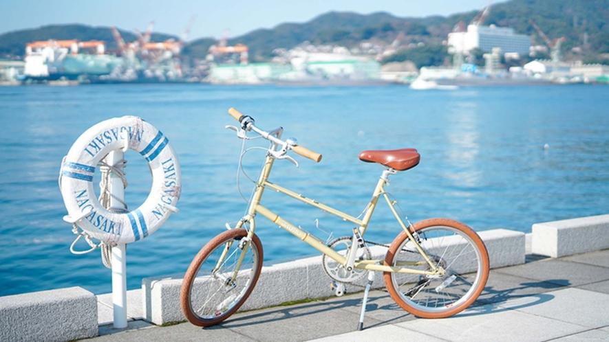 ・【景色】レンタサイクルもやっております。海沿いのサイクリングは気持ち良いですよ。