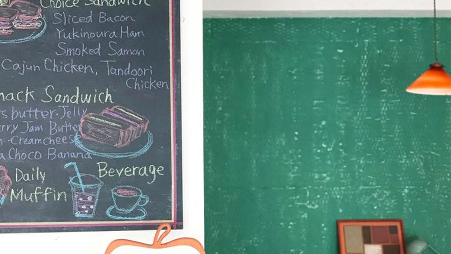 ・【カフェ】コーヒーとサンドウィッチが人気です