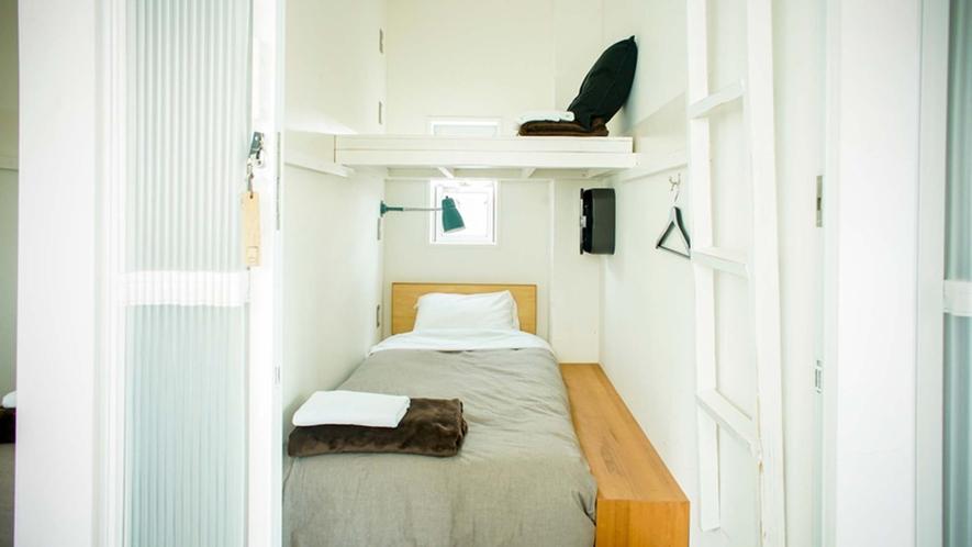 ・【Cabin Floor】寝台特急のようなキャビンスタイルプライベートドミトリーです