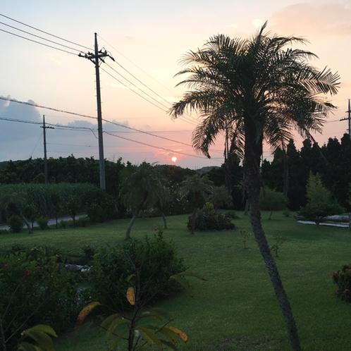 *夏の夕日