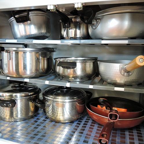 *【施設設備】調理器具も多種類ご用意!島野菜を使った料理をしてみるのはいかがですか?