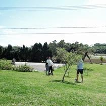 *【施設設備】庭造り沖縄ナンバーワンにもなったことがあるオーナー自慢の中庭です。