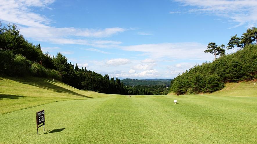 *【周辺】近くには秋田森岳温泉36ゴルフ場がございます。