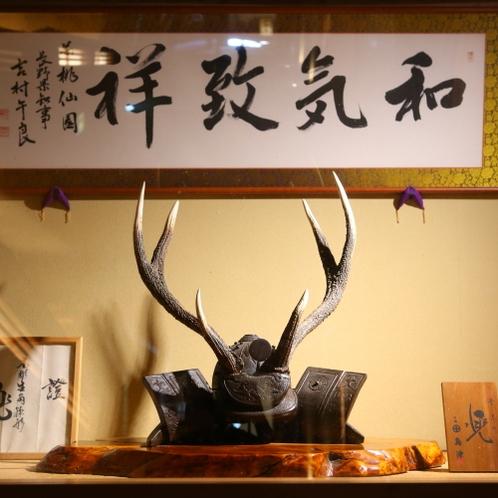 ◆施設_先代から引き継がれる調度品が館を飾ります。