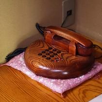 【唐松】お部屋備え付けの木製電話