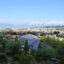 ◆外観_高台に位置し、天気の良いはアルプスと松本平が見渡せます