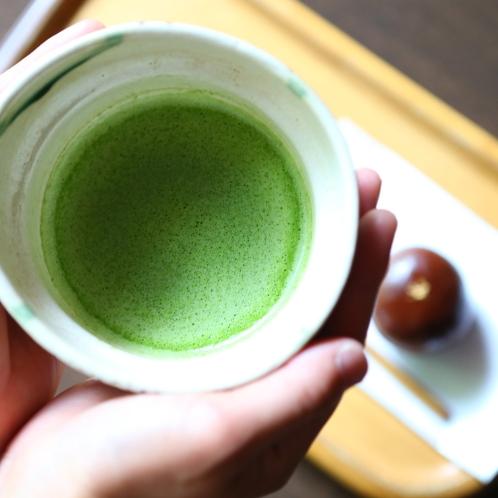 ■【特別室】特別室には抹茶のウェルカムサービスがございます。