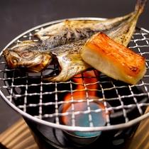 朝食焼き魚