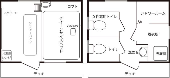【体験】ホームシアター付ログハウス