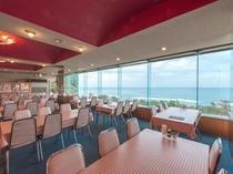 沖ノ島が望める展望レストラン