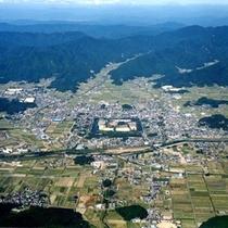 篠山城跡を中心に広がる城下町に点在する宿泊施設