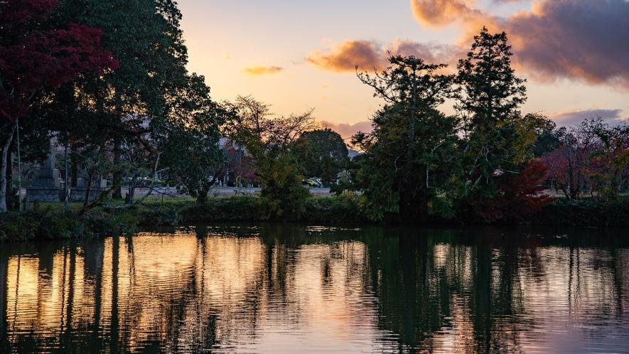 篠山が誇る「日本の原風景」が残るホテル周辺の秋の風景。