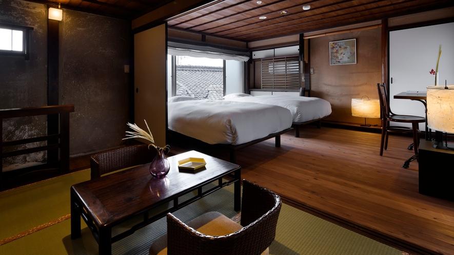 【VMGコンフォート・103】メゾネット形式で畳と木の温もりある落ち着いたお部屋です。